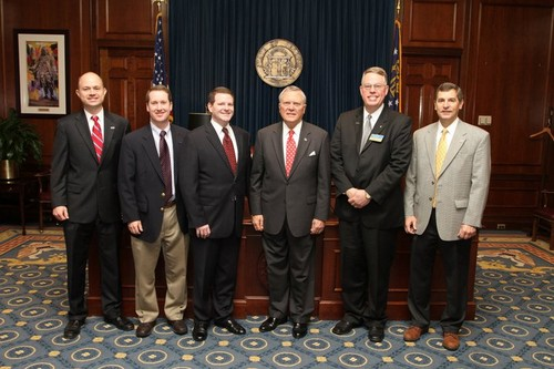 Ben Persons and fellow Cobb County Trial Lawyers with Governor Nathan Deal