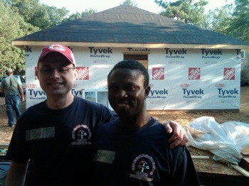 MFUMC Habitat Chair, Ben Persons, and home owner John Buabeng