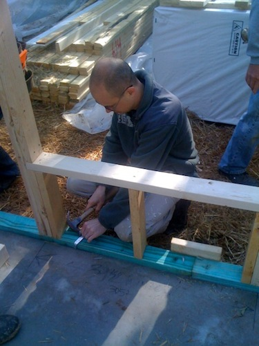 Habitat chair, Ben Persons, at the first day of the 2011 Habitat for Humanity build in Marietta, Georgia